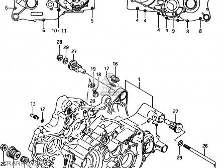 Suzuki Ltf4wd 1998 w Sweden Australia e17 E24 Crankcase