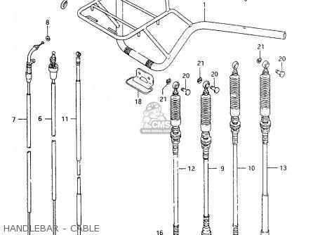 Suzuki Ltf4wd 1998 w Sweden Australia e17 E24 Handlebar - Cable