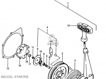 Suzuki Ltf4wd 1998 w Sweden Australia e17 E24 Recoil Starter