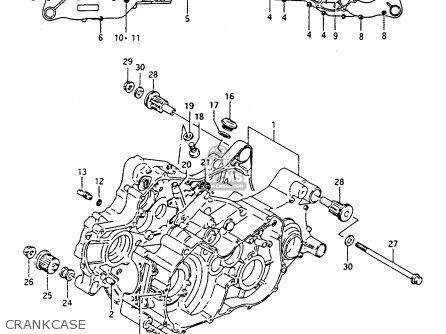 Suzuki Ltf4wdx 1991 m Crankcase