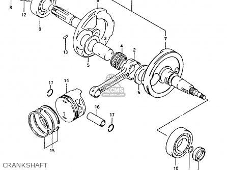Suzuki Ltf4wdx 1991 m Crankshaft