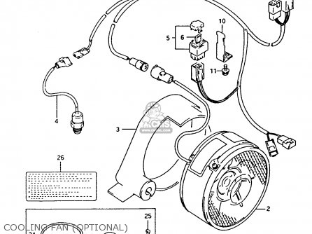 Suzuki Ltf4wdx 1993 p Cooling Fan optional