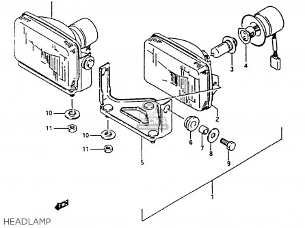 Suzuki Ltf4wdx 1993 p Headlamp