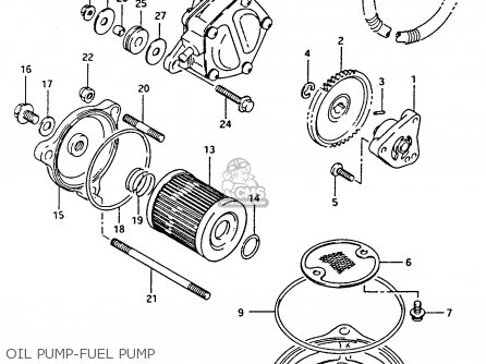 Suzuki Ltf4wdx 1993 p Oil Pump-fuel Pump