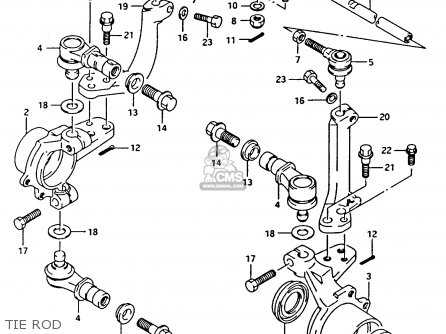Suzuki Ltf4wdx 1993 p Tie Rod