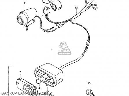 Suzuki Ltf4wdx 1994 r Backup Lamp optional