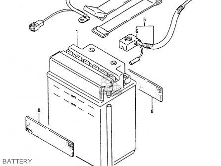 Suzuki Ltf4wdx 1994 r Battery