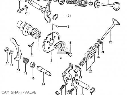 Suzuki Ltf4wdx 1994 r Cam Shaft-valve