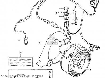 Suzuki Ltf4wdx 1994 r Cooling Fan optional