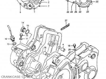 Suzuki Ltf4wdx 1994 r Crankcase Cover