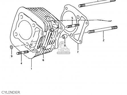 Suzuki Ltf4wdx 1994 r Cylinder