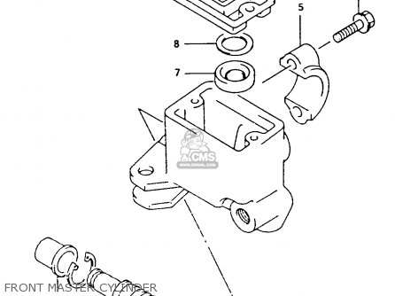 Suzuki Ltf4wdx 1994 r Front Master Cylinder