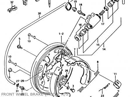 Suzuki Ltf4wdx 1994 r Front Wheel Brake model R s