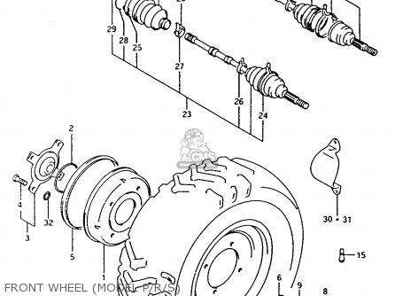 Suzuki Ltf4wdx 1994 r Front Wheel model P r s