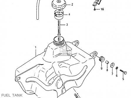 Suzuki Ltf4wdx 1994 r Fuel Tank
