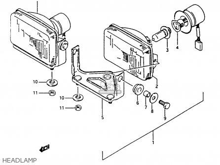 Suzuki Ltf4wdx 1994 r Headlamp