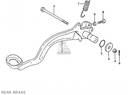 Suzuki Ltf4wdx 1994 r Rear Brake