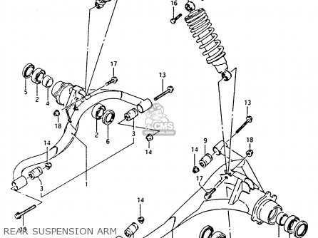 Suzuki Ltf4wdx 1994 r Rear Suspension Arm