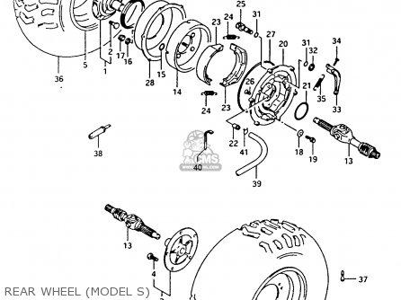 Suzuki Ltf4wdx 1994 r Rear Wheel model S