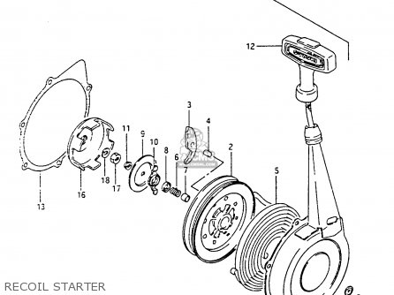 Suzuki Ltf4wdx 1994 r Recoil Starter