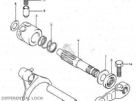 Suzuki Ltf4wdx 1997 v Sweden New Zealand e17 E27 Differential Lock