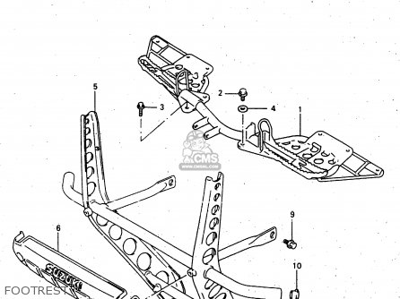 Suzuki Ltf4wdx 1997 v Sweden New Zealand e17 E27 Footrest