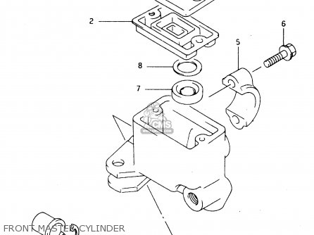 Suzuki Ltf4wdx 1997 v Sweden New Zealand e17 E27 Front Master Cylinder