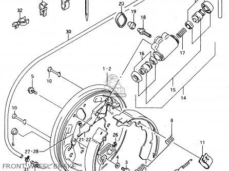 Suzuki Ltf4wdx 1997 v Sweden New Zealand e17 E27 Front Wheel Brake