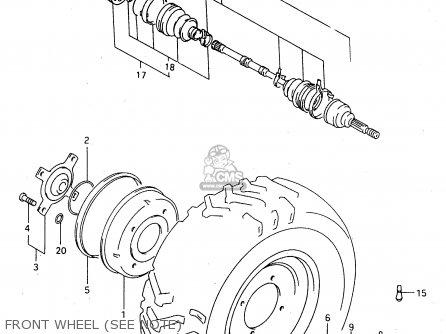 Suzuki Ltf4wdx 1997 v Sweden New Zealand e17 E27 Front Wheel see Note