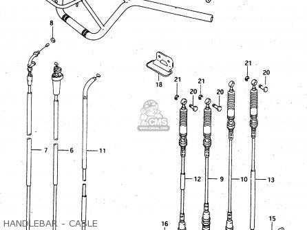 Suzuki Ltf4wdx 1997 v Sweden New Zealand e17 E27 Handlebar - Cable