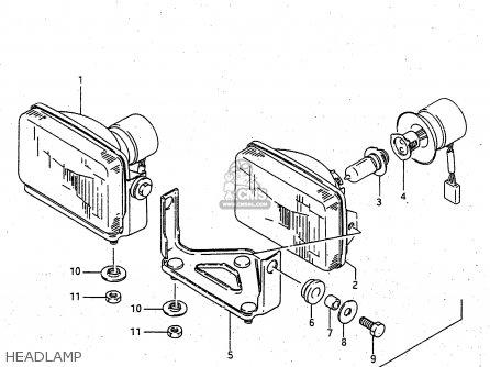 Suzuki Ltf4wdx 1997 v Sweden New Zealand e17 E27 Headlamp