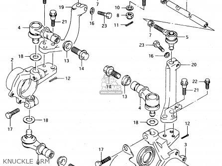 Suzuki Ltf4wdx 1997 v Sweden New Zealand e17 E27 Knuckle Arm