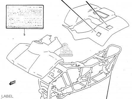 Suzuki Ltf4wdx 1997 v Sweden New Zealand e17 E27 Label