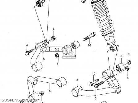 Suzuki Ltf4wdx 1997 v Sweden New Zealand e17 E27 Suspension Arm