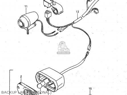 Suzuki Ltf4wdx 1998 w Backup Lamp optional