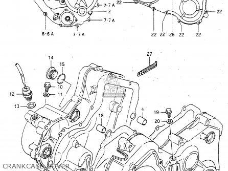 Suzuki Ltf4wdx 1998 w Crankcase Cover