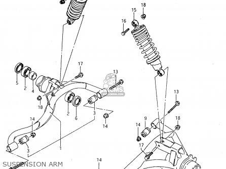 Suzuki Ltf4wdx 1998 w Suspension Arm