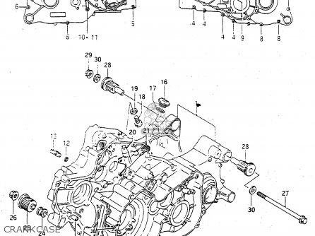 Suzuki Ltf4wdx 1998 w Sweden New Zealand e17 E27 Crankcase