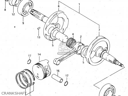 Suzuki Ltf4wdx 1998 w Sweden New Zealand e17 E27 Crankshaft
