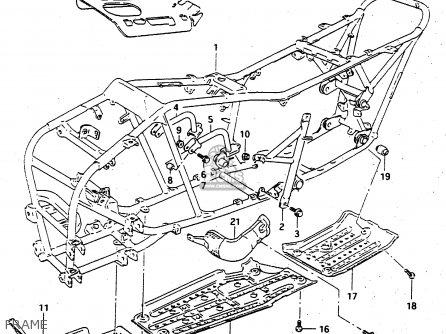Suzuki Ltf4wdx 1998 w Sweden New Zealand e17 E27 Frame