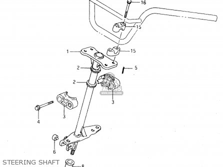 Suzuki Ltf4wdx 1998 w Sweden New Zealand e17 E27 Steering Shaft