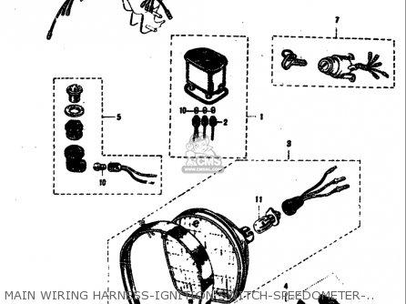 main wiring harnessignition switchspeedometerhornhead lamp diagramsuzuki m15 m15d m12 1968 usa e03 parts lists and schematics rh cmsnl com