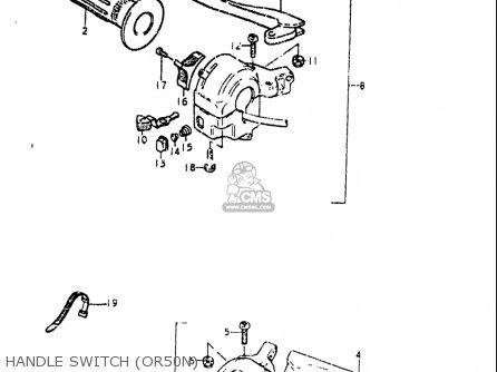 Suzuki Or50 1979 1980 n t Usa e03 Handle Switch or50n