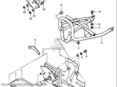 Suzuki Or50 1979 1980 n t Usa e03 Rear Combination Lamp
