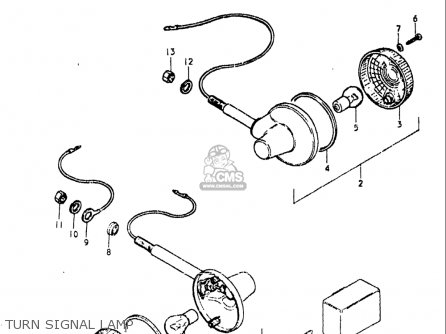 Suzuki Or50 1979 1980 n t Usa e03 Turn Signal Lamp