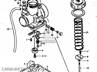 suzuki pe175 1978 (c) usa (e03) parts lists and schematics on 1978