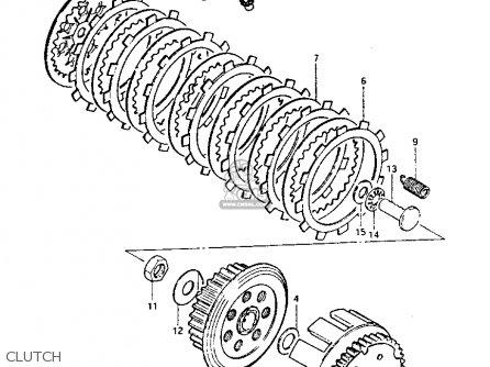 suzuki pe175 1982 z parts list partsmanual partsfiche