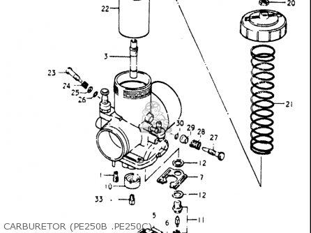Suzuki Pe250 1977-1979 usa Carburetor pe250b  pe250c