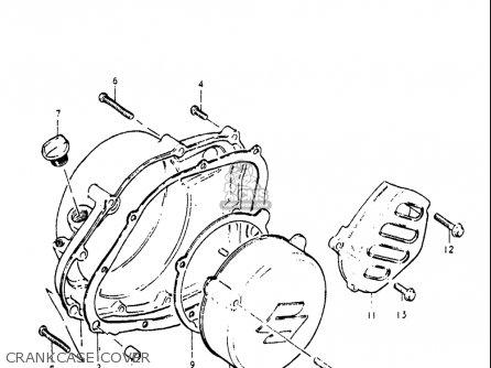 Suzuki Pe250 1977-1979 usa Crankcase Cover