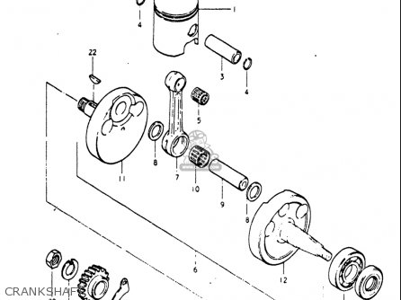 Suzuki Pe250 1977-1979 usa Crankshaft